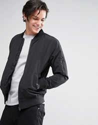 Jack And Jones Core Ma1 Bomber Jacket In Lightweight Black