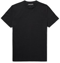 Neil Barrett Slub Cotton Jersey T Shirt Black