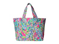 Lilly Pulitzer Beach Tote Multi Palm Reader Tote Handbags Blue