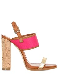 Dsquared 110Mm Ayers And Leather Sandals