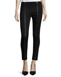 Romeo And Juliet Couture Zip Front Ponte Pants Black