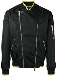 Christian Dior Homme Zipped Biker Jacket Black