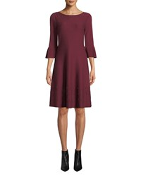 Nic Zoe Illusion Twirl Dress Petite Amaranth