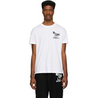 Moschino White Double Question Mark T Shirt