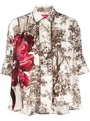 F.R.S For Restless Sleepers Silk Floral Printed Blouse 60