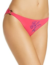 Vilebrequin Embroidered Cockatoo Bikini Bottom Pink