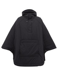 Falke Drawcord Hem Padded Hooded Poncho Black