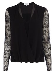 Coast Alvara Lace Sleeve Top Black