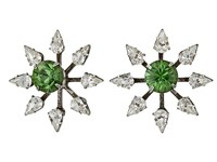 Dannijo Constantina Earrings Asst Green Earring Silver