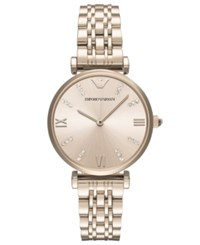 Emporio Armani Women's Gianni T Bar Pastel Pink Stainless Steel Bracelet Watch 32Mm