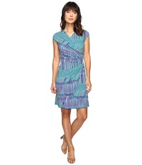Tommy Bahama Salvador Stripe Short Dress Sapphire Night Women's Dress Blue