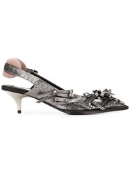 N 21 No21 Kitten Heel Pumps Grey