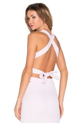 Rise Pretty Baby Backless Bow Crop Top Pink