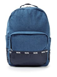 Topman Wood Wood Blue Denim Ryan Backpack