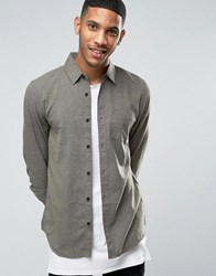 New Look Shirt With Texture In Khaki In Regular Fit Light Khaki Green