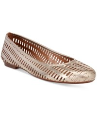 French Sole Fs Ny Quartz Perforated Flats Women's Shoes Platino