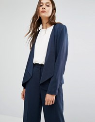 Selected Dusa Blazer With Zip Pockets Navy