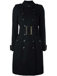 Burberry Belted Trench Coat Black