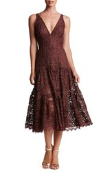 Dress The Population Women's Madelyn Lace Midi Currant Lace