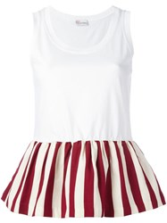 Red Valentino Pleated Trim Top White