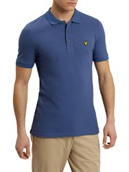 Lyle And Scott Solid Polo Shirt Storm Blue