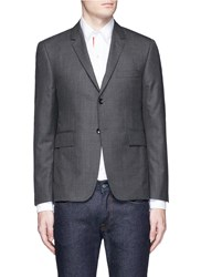 Thom Browne Turtle Embroidered Wool Blazer Grey