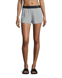 Koral Activewear Tap Speckled Print Shorts Heather Gray Black Heather Grey Blk