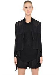 Rick Owens Sheer Viscose Wrap Cardigan