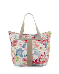 Le Sport Sac Small Everyday Tote Bag Pink Pattern