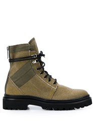 Balmain Lace Up Boots Green