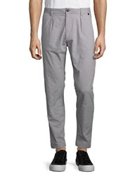 Selected Cotton Blend Tapered Leg Pants Grey
