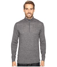 Hot Chillys Wool Double Layer Zip T Charcoal Heather Men's Clothing Gray
