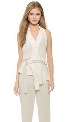 3.1 Phillip Lim Draped Wrap Top With Belt
