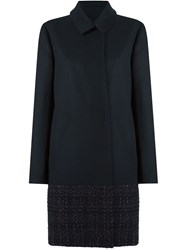 Gloria Coelho Tweed Panel Coat Black
