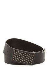 Hugo Boss Gusy Leather Studded Belt Black
