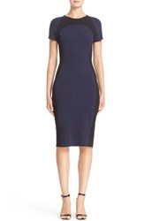 St. John Women's Collection Colorblock Sculpture Knit Dress