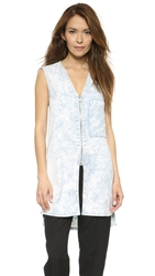 Helmut Lang Acid Wash Sleeveless Shirt Light Blue
