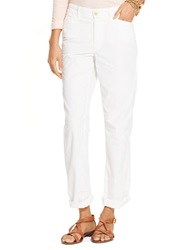 Lauren Ralph Lauren Petite Rolled Cuff Chino Pants White