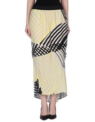 Giorgia And Johns 3 4 Length Skirts Yellow