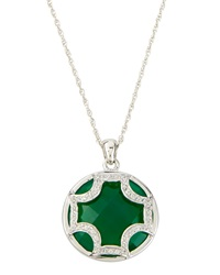 Elizabeth Showers Green Amethyst Maltese Pendant Necklace