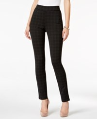Nydj Jody Straight Leg Ponte Knit Pull On Pants Houndstooth