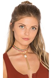 Ettika Rainbow Seashell Choker Metallic Gold