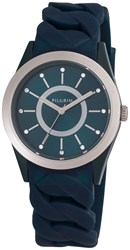 Pilgrim Silver Plated Blue Silicon Watch Blue