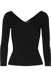 Michael Kors Collection Stretch Merino Wool Blend Sweater Black