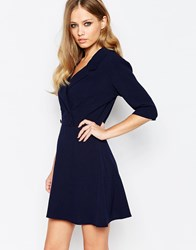 Love Tailored Double Breasted Dress Navy