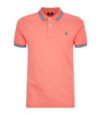 Paul Smith Ps By Tipped Collar Polo Shirt Male Salmon