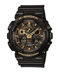 G Shock Mens Black And Camouflage Watch