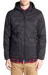 Men's Obey 'Transit City' Quilted Nylon Hooded Jacket