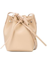 Mansur Gavriel Hmm010ca White Furs And Skins Leather Nude And Neutrals