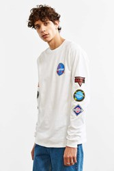 Urban Outfitters Logic Space Patches Long Sleeve Tee White